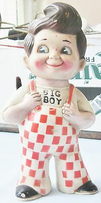 "Vintage 1973 Bob's Big Boy Hamburger Restaurant Advertising 9"" Coin Savings Bank"