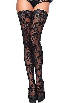 Leg Avenue Sexy Floral Lace Thigh High Stay up/Hold Up Stockings O/S