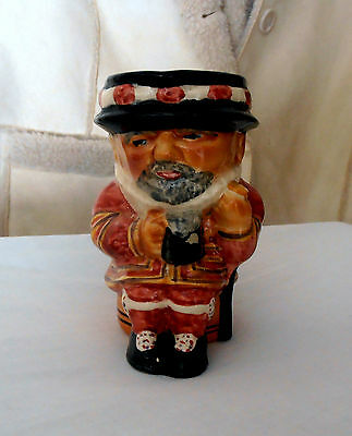 Shorter & Sons Staffordshire Pottery Hand Painted Beefeater Toby Jug.
