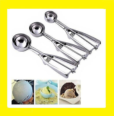 Stainless Steel Scoops Ice Cream Mash Spoon Kitchen Ball 4CM 5CM 6CM 1, 2, 3.