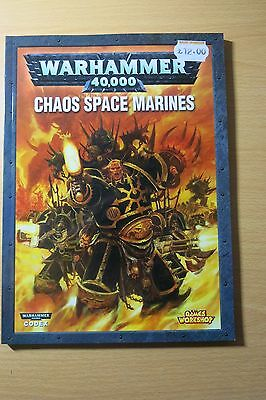 Warhammer 40k (40,000) Chaos Space Marines Book - Codex - Games Workshop