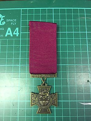 Full Size Victoria Cross Medal Vc Museum Copy Medal With Ribbon.