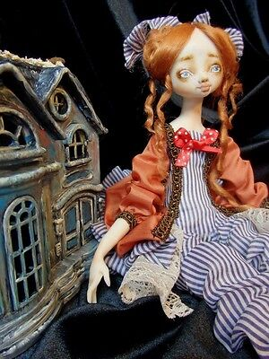 Lilly with the Dollhouse OOAK Doll