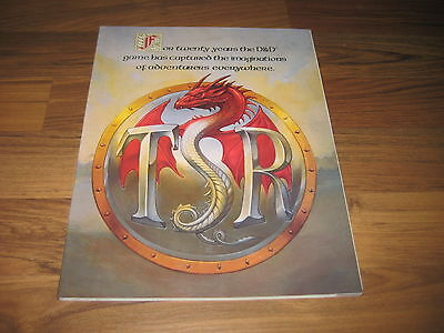 D&D und AD&D 1993 TSR Master Catalog TSR 9912 Softcover + Product Poster