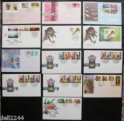 Australia 1996: Complete Set of 25 First Day Covers