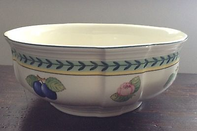 villeroy and boch french garden salad bowl/ open vegetable serving bowl  8 1/4""