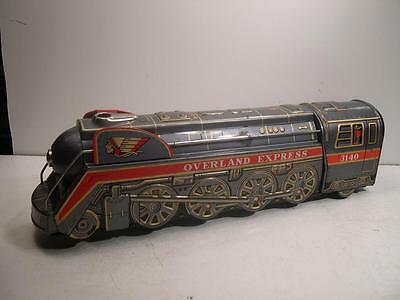 OverLand Express Locomotive Train 3140 Tin Litho Battery Operated Modern Toys