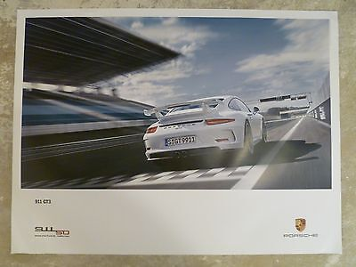 2013 Porsche 911 GT3 Coupe Showroom Advertising Sales Poster RARE!! Awesome L@@K