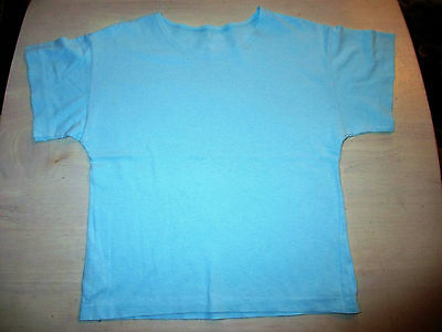 VINTAGE  MARKS And SPENCER GIRLS  AQUA T-SHIRT  AGE 7-8
