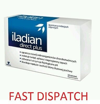 ILADIAN DIRECT PLUS 10 Vaginal tablets thrush bacterial vaginosis -FAST DISPATCH