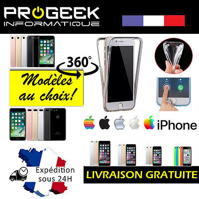 Coque Housse Etui Silicone TPU 360° FULL PROTECTION pour iPhone