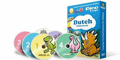 Dino Lingo Language Learning for Children, DUTCH, 6 DVD's, Ages 1 - 8
