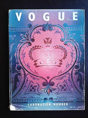 British Vogue Magazine June 1953 Coronation Issue Queen Elizabeth II