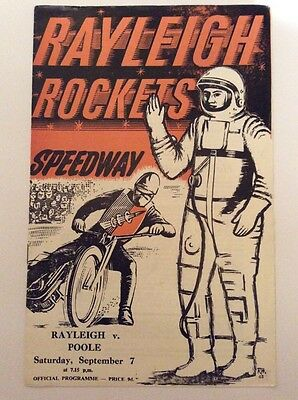 Rayleigh v Poole Speedway Programme 7 Sept 1963