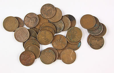 33 wheat penny cents Indian head old American USA copper coins joblot