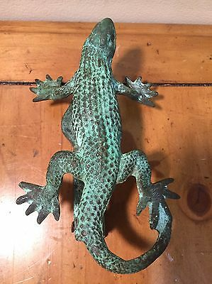 Antique Vintage Lizard Door Knocker Heavy Ornate