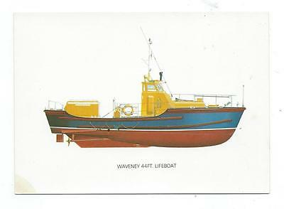 Waveney 44' Lifeboat Devenish Lifeboat Collection Postcard c.1980's