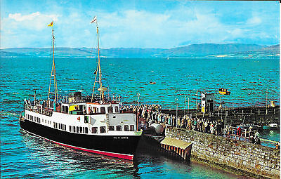 Clyde Ferry Colour Postcard - MV Maid of Cumbrae at Largs, mint unposted