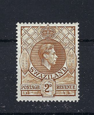 SWAZILAND1938 GEORGE V1 TWO PENCE STAMPS SG 31a.  MLH