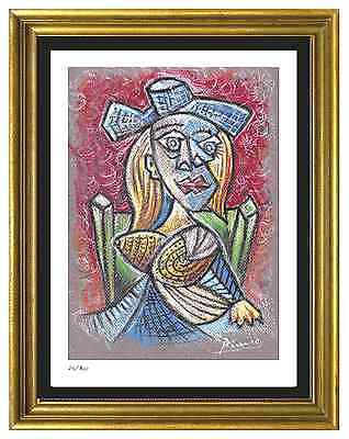 """Pablo Picasso Signed & Hand-Numberd Ltd Ed """"Seated Woman"""" Litho Print (unframed)"""