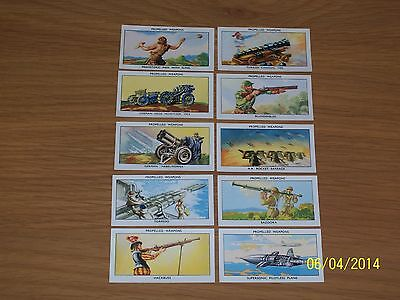 Amalgamated Tobacco Ltd - Mills - Propelled Weapons 10 Excellent Cards