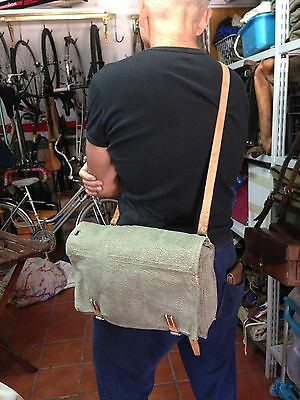 Shoulder Bag Swiss Army Boots Cleaning Kit Leather and Canvas Vintage