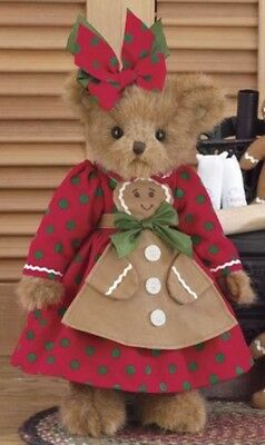 "14"" GINGER COOKIEBAKER*Bearinton Teddy Bear*NEW*NWT*Gingerbread*CHRISTMAS*173197"