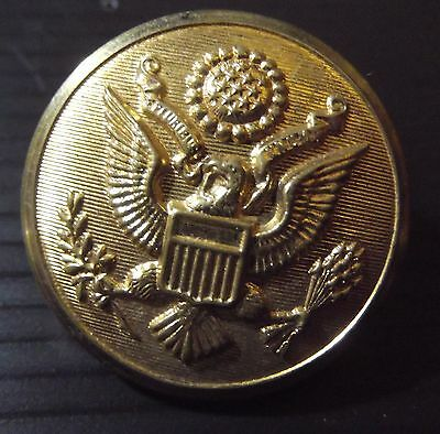 US Army 28mm Brass officers greatcoat button each