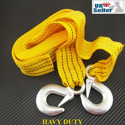 5T 5000Kg Heavy Duty Tow Towing Pull Rope Car Vehicle Vat Road Recovery Strap