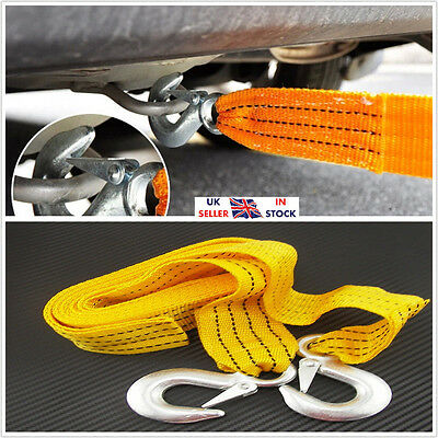 3T 3000Kg Heavy Duty Tow Towing Pull Rope Car Vehicle Vat Road Recovery Strap