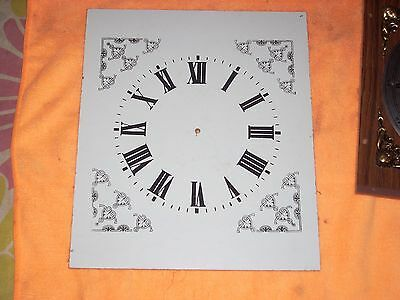 Vintage Hardbored Clock Face Size 22 Cm By 25.7 Cm White Face Black Number