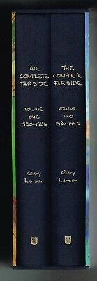 The Complete Far Side by Gary Larson Volumes 1 + 2 in Slipcase 2003 Hardcovers