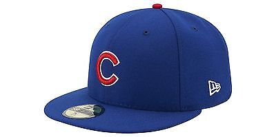 New Era 59FIFTY CHICAGO CUBS Game On Field MLB Baseball Cap fitted 5950 Hat Blue