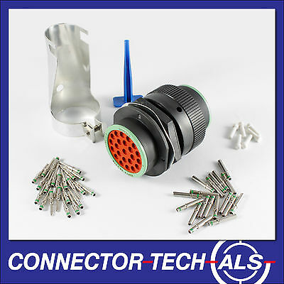 Deutsch HDP20 23-way Connector Complete Kit Panel Bulkhead Firewall #HDP20-23