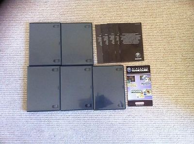 Official Nintendo Gamecube Replacement Game Cases with Inserts x 5