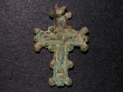 Attractive Post Byzantine, Early Medieval Bronze Cross, As Found Condition+++