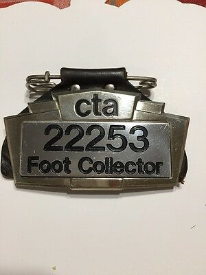 VINTAGE OBSOLETE CTA LINE ELEVATED RAILROAD BADGE Foot Collector Complete