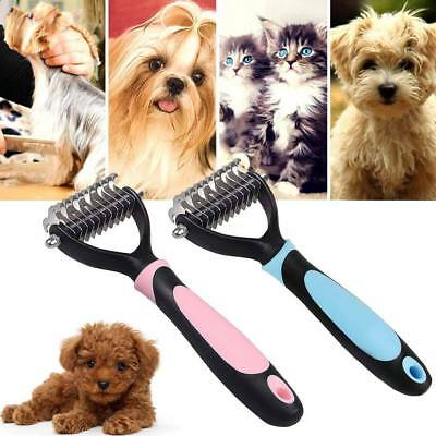 Pet Dog Cat Hair Fur Shedding Blade Trimmer Grooming Rake Dematting Comb Brush