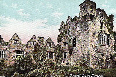 DONEGAL CASTLE IRELAND VINTAGE IRISH POSTCARD by LAWRENCE