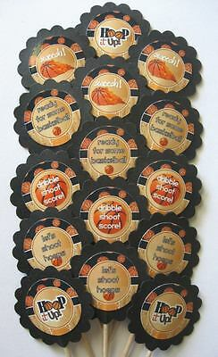 Basketball Cupcake Toppers/Party Picks (15pc Set)  Item #1442