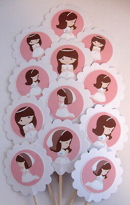 First Communion Cupcake Toppers/Party Picks  Item #1027