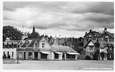 THE SQUARE DORNOCH SCOTLAND RP POSTCARD by M & L NATIONAL SERIES