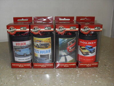 Holden Heritage Can Cooler and Toffees set of 4