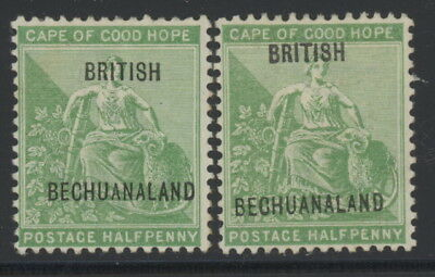 Bechuanaland 41 & 42 mh w/British Bechuanaland overprints on Cape of Good Hope