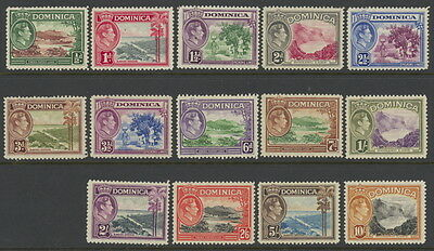 Dominica 97 to 110 complete set - mnh George VI