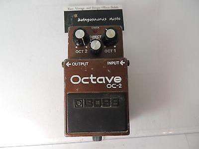 Boss Oc-2 Octave Guitar Effects Pedal Vintage Made In Japan Mij Octaver
