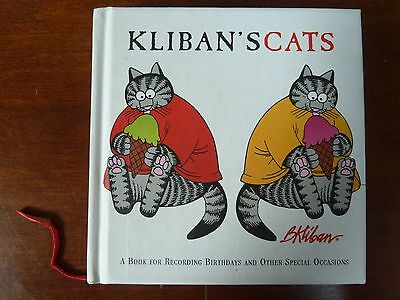B. Kliban CATS A Book for recording Birthdays & other Occasions Kitten Whimsical