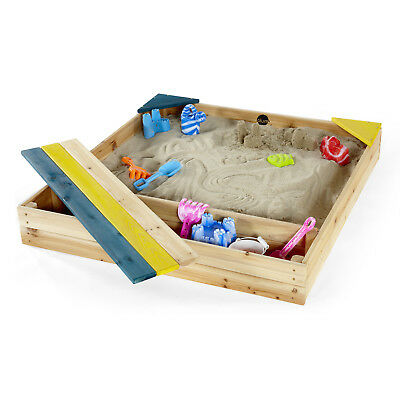 NEW Wooden Sandpit with Storage | Sandbox Outdoor Sand Kids Toddler Baby | Cover