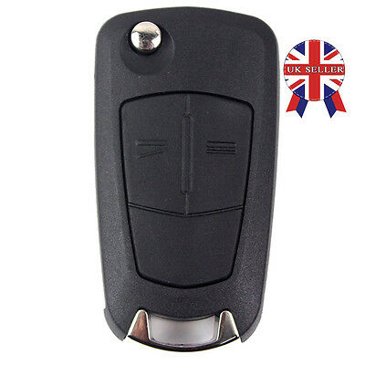 For Vauxhall Opel Corsa Astra Vectra Zafira 2 Button Remote Flip Key Fob Case