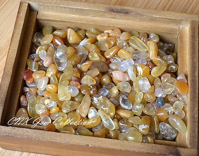 Tumbled Gemstone Crystal Yellow Carnelian Chip Stone 5g Small Tiny